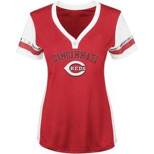 MLB Women's Contoured T-Shirt - Cincinnati Reds